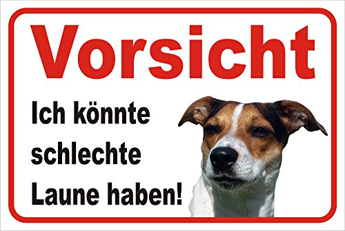 Schild Vorsicht Jack Russell Terrier -