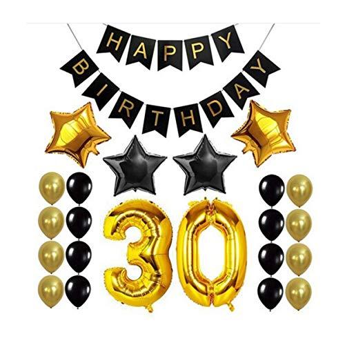 AIUIN 30 Geburtstag Party Dekoration Happy Birthday Banner