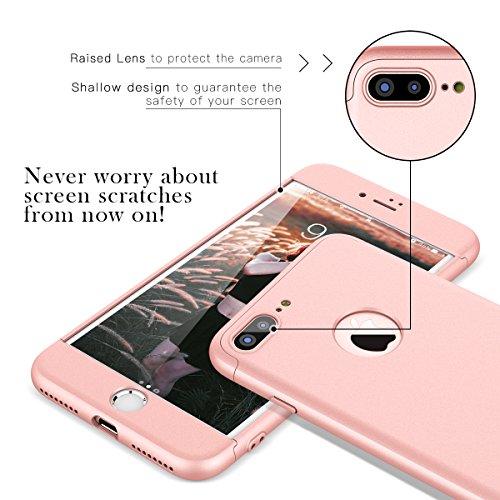 new styles c1c99 4825d CE-Link Cover per Apple iPhone 7 Plus 360 Gradi Full Body Protezione, ...
