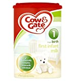 Cow & Gate First Infant Milk from Newborn Stage 1 900gIngredients Demineralised Whey (Milk), Vegetable Oils, Lactose (Milk), Skimmed Milk, Galacto-Oligosaccharides (Milk) (GOS), Whey Protein Concentrate (Milk), Fructo-Oligosaccharides (FOS), Calc...