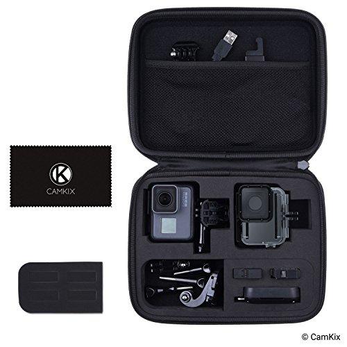 CamKix Tasche kompatibel mit GoPro Hero 7/6 / 5 - Perfekt für Transport und Aufbewahrung - Vielseitige Eva-Auskleidung mit präzise passendem Schnitt - Haltbar und robust - Großes Gopro Tragetasche