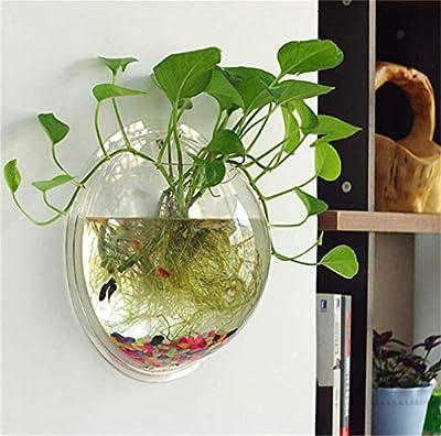 YiYueTrade Wasserspender für Aquarien, zum Aufhängen, Acryl, transparent, ca. 1,3 l