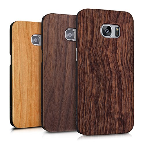 kwmobile-Hlle-fr-Samsung-Galaxy-S7-edge-Case-Handy-Schutzhlle-Rosenholz-auf-Kunststoff-Hardcase-Cover-Braun