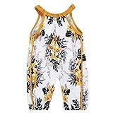 Familizo Barboteuse Florale Bébé Filles Combinaison Sexy Halter ❤️ Tenues de Pantalons de Harem (18-24Mois, ❤️Multicolore)