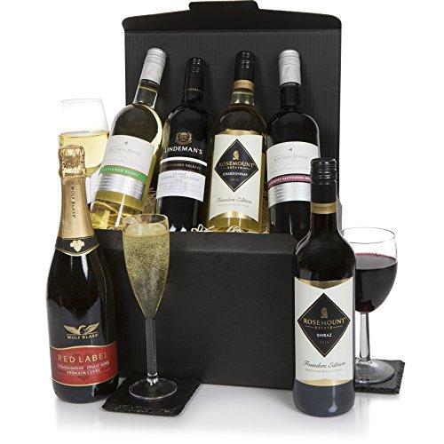 Selección de vino de seis botellas australianas - Mezcla de seis botellas de selección de vinos - vinos espumosos y tranquilos de Australia