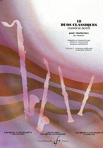 18 Duos Classiques Volume 2-2 clarinettes