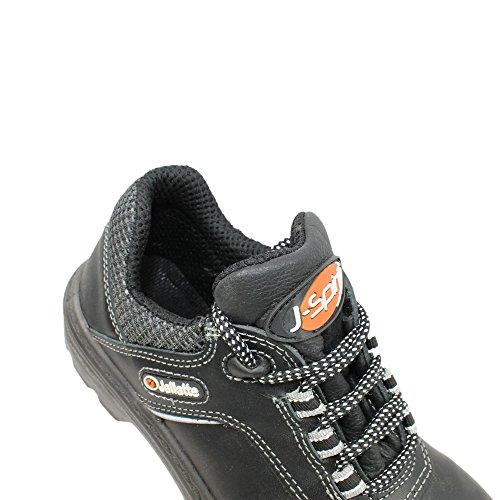 Jallatte berufsschuhe businessschuhe chaussures s1P chaussures de sécurité noir chaussures plates imperfections Noir - Noir