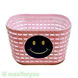 maxxi4you - Korb für Kinderfahrrad, Kunststoff, für vorne/hinten, 4Farben Fahrradkorb –01170319