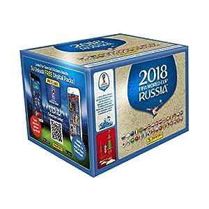 Panini - Mundial Rusia 2018 Caja con 100 Sobres - Versión importada de Gran Bretaña Los números de los cromos de la versión importada Pueden no coincidir con el álbum de la versión española