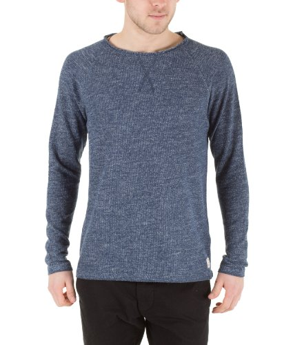 Selected Homme Herren Pullover Teal Crew neck J grey Strickpullover 10872 Insignia Blue