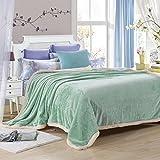 Wddwarmhome Winter Warme Decke Einfarbig Decke Wohnzimmer Mit Sofa Decke Schlafzimmer Bettdecke Büro Nap Blanket Weich Und Bequem Größe: 150 * 200 cm Wolldecke (Farbe : Mint Green)