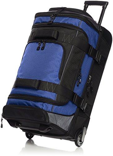 AmazonBasics Ripstop Wheeled Duffel, 30 Inch - Blue