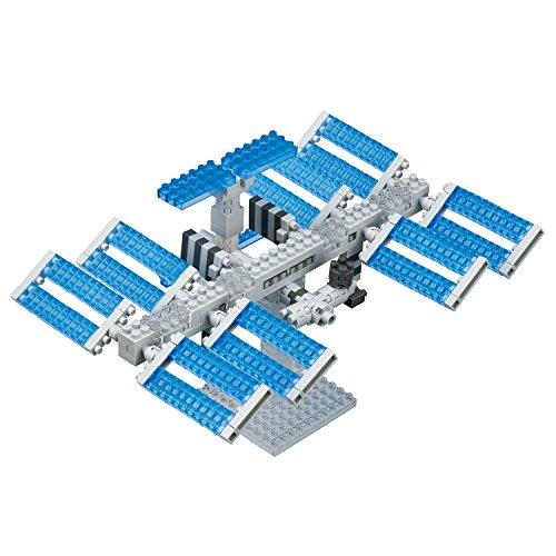 Unbekannt nanoblock NBH-129 - Space Station / Weltraumstation, Minibaustein 3D-Puzzle, Sights to See Serie, 390 Teile, Schwierigkeitsstufe 3, schwer -