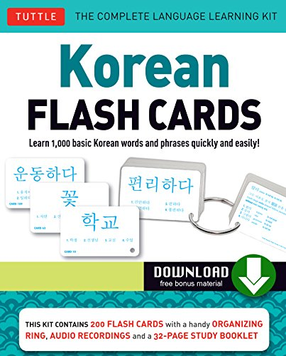 Korean Flash Cards Kit Ebook: Learn 1,000 Basic Korean Words and Phrases Quickly and Easily! (Hangul & Romanized Forms) (Downloadable Audio Included) (English Edition) System Flash Kit