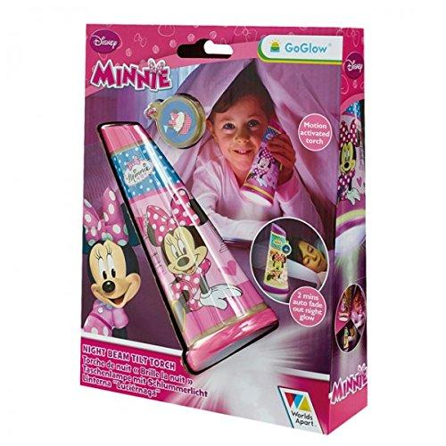 Disney Minnie Mouse GoGlow Taschenlampe Nachtlicht Tilt Torch Kinder Schlafzimmer Kinderzimmer Leuchte (Minnie Taschenlampe)
