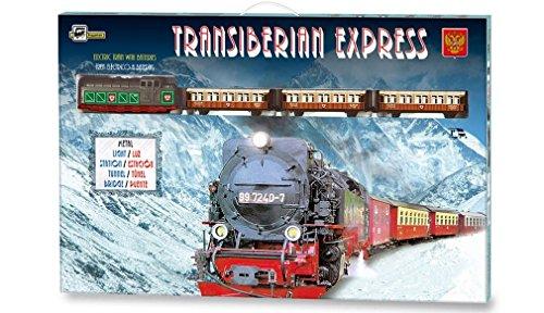 ONOGAL Tren Electrico Metalico con LUZ Expreso Transiberiano + Accesorios 450_Tren