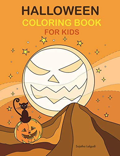 Halloween Coloring Book for Kids: Large Print Coloring Activity Book for Children and Seniors