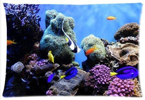 Fische Erfrischende Unterwasserwelt Bunte Tropical Sea Life Kissen Fall-Deko Kissen, quadratisch, werfen Fall Kissen Shell Kissenbezüge-50,8x 76,2cm, twin-sides Print -