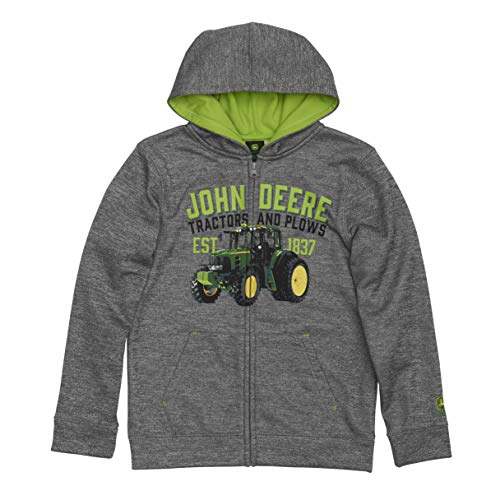 John Deere Tractor Youth Boy Fleece Zip Front Hoody Poly Youth Zip-front Hoodie