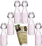gouveo 12 x Bügelflasche Dekagon 250 ml Incl. 28-seitige Flaschendiscount-Rezeptbroschüre Zum Selbst Abfüllen Likörflasche Schnapsflasche