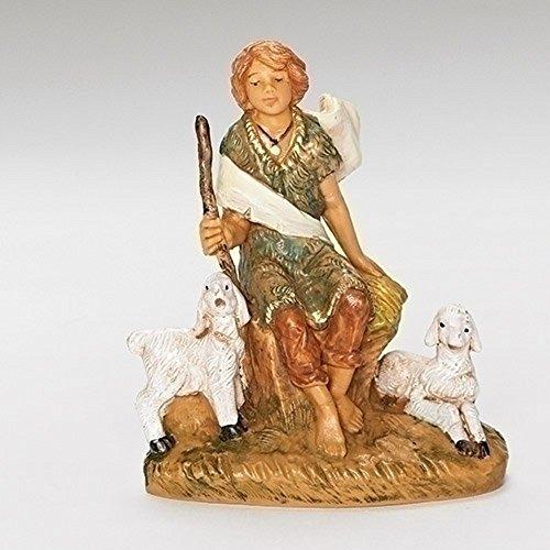 Roman Fontanini-Figur Peter Schäferhund Krippe 8,9 cm