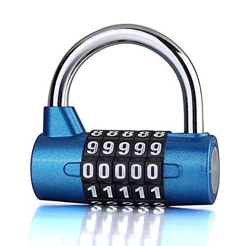 Preisvergleich Produktbild LJXiioo 5-stelliges Kombinationsschloss,  rücksetzbare Kombinationsschlösser,  Sicherheitsschloss,  Zahlenschloss (2 Stück), Blue