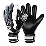Brace Master Goalie Goalkeeper Gloves, Skeleton-type High Strength Tough Finger Save 3mm Thick