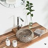 Wohnfreuden Marmor Waschbecken ASBAK Mini 30 cm ✓ rund Poliert Creme ✓ Naturstein Waschplatz Handwaschbecken Steinwaschschale Naturstein-Aufsatzwaschbecken für Ihr Bad ✓ schnell