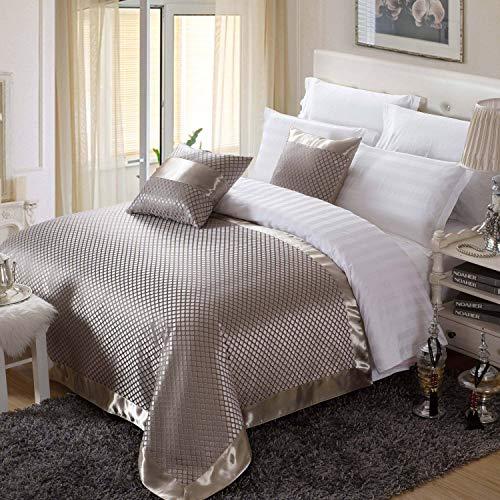 Osvino grandi dimensioni estivo stile europeo palazzo corridore letto jacquard classico tessuto lavabile dolce nobile per alberghi case, marrone 210x155cm pour 150cm lit