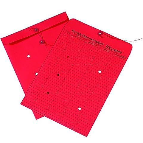 Box ben1095inter-department Briefumschläge, 25,4x 33cm rot (100Stück)
