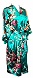 CCcollections Kimono Robe Long 16 Colors Premium Peacock Bridesmaid Bridal Shower Womens Gift