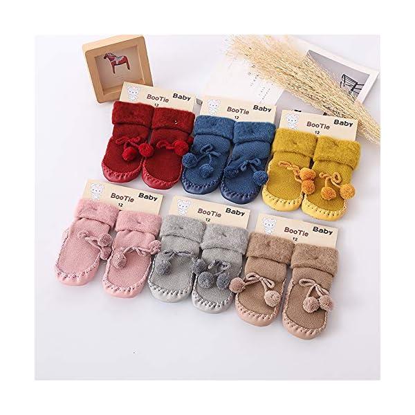 Calcetines Antideslizante Bebe Invierno K-youth Calcetines para Bebé Niñas Niños 0-24 Meses Espesar Zapatos Calcetines… 3