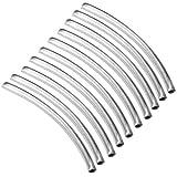 50X Röhrchen Metallröhrchen Röhre gebogen Zwischenperlen Verbinder Beads Perlen