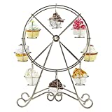 SOLEDI Einzigartig 8-Tasse Edelstahl Rotierend Riesenrad Cupcake Dessert Ständer Becherhalter