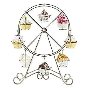 Soledì Ruota Panoramica Porta Cupcake Muffin Alzata per Dolci Acciaio Inossidabile Decorazione Tavola Matrimonio