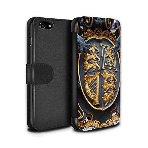 Stuff4 Coque/Etui/Housse Cuir PU Case/Cover pour Apple iPhone 7 / Cité de Londres Design / Sites Londres Collection Royal Gate