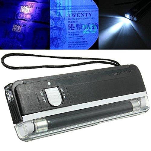 Bazaar 2 in 1 tragbare UV-Licht Handheld Gelddetektor Taschenlampe -