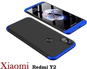 KTC Plus (Blue & Black) GKK 3 in 1 360 Degree Full Front & Back Protection Full Body Cover for Xiaomi Redmi Y2/Mi Y2