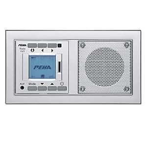 peha mp3 unterputz radio audiopoint im nova design mit. Black Bedroom Furniture Sets. Home Design Ideas