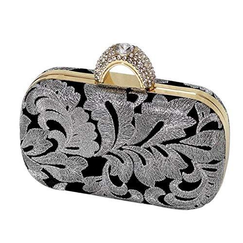 HKDUC Abend Clutch Diamond Knuckle Ring Abendtasche mit Kette Umhängetasche Handtaschen der Frauen Handtasche Umhängetasche Crossbody