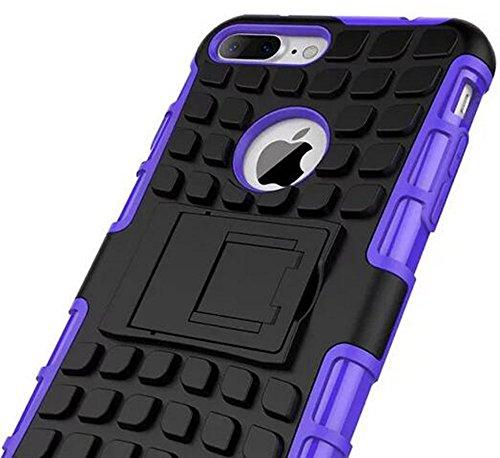 Nnopbeclik [Pneus Texture Armor Séries] Coque Iphone 7 Silicone 2in1 Dual Layer [New] Protectrice Fine Et Élégante Rigide Backcover Incassable case pour Iphone 7 Coque Apple (4.7 Pouce) Antichoc Prote pourpre