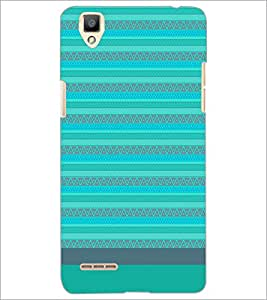 PrintDhaba Tribal pattern D-1857 Back Case Cover for OPPO F1 (Multi-Coloured)