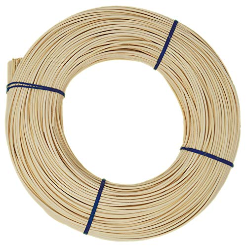 famos Peddigrohr Blauband Beste Qualität Flechtmaterial Peddig Natur Verschiedene Stärken ca. 500g (2,5 mm)