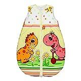 TupTam Babyschlafsack Wattiert Ohne Ärmel ANK002, Farbe: Dino Rosa, Größe: 92-98