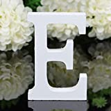 "Decorative Wood Letters, Freeas 26 Letters Wooden Alphabet Wall Letter for Children Baby Name Girls Bedroom Wedding Brithday Party Home Decor-Letters,Hight: 8cm/3"" (E)"