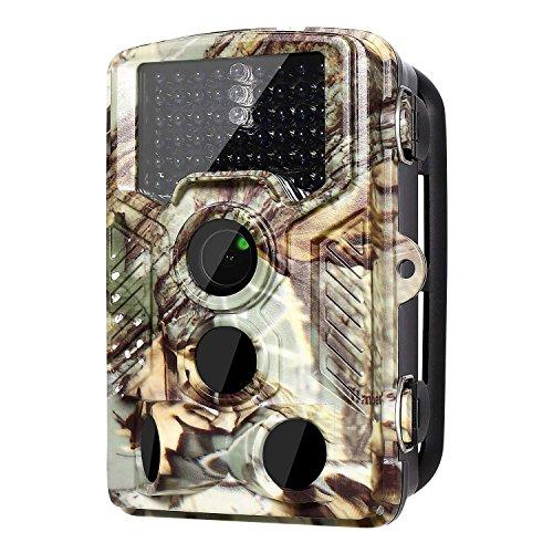 """Wildkamera, Nisels Überwachungskamera Jagdkamera120°Weitwinkel Vision Jagdzeug 12MP 1080 HD 2,4"""" LCD mit Infrarote 20m Nachtsicht Wasserdichte IP66 Überwachungskamera"""