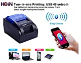 #8: HOIN BIS Certified 58MM Bluetooth + USB Thermal Printer