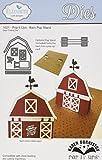 Elizabeth Craft Designs-Fustelle in metallo, Pop It Up, di Karen Burniston, motivo: fienile, con supporto