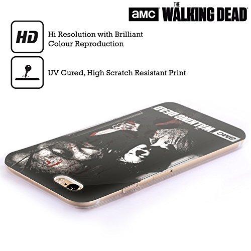 Ufficiale AMC The Walking Dead Rick Faccia Insanguinata Sangue Cover Morbida In Gel Per Apple iPhone 6 / 6s Intrepida Carol