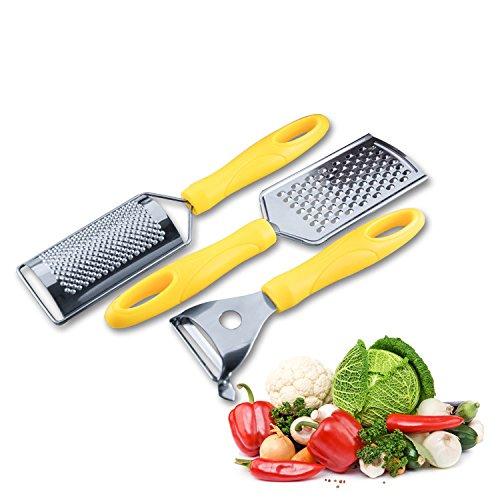 MEICHEN Nuovi strumenti creativi nella pelatrice di tre set di cucina formaggio aereo grattugia in acciaio inox , cm 23.5*5.6*2